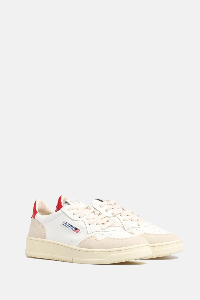 Leather/suede -Bianco/Rosso