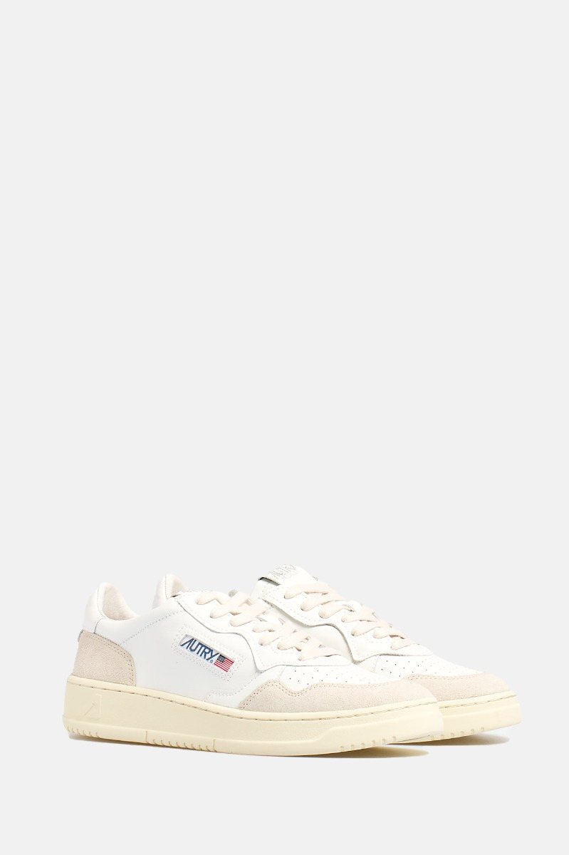Leather/suede -Bianco