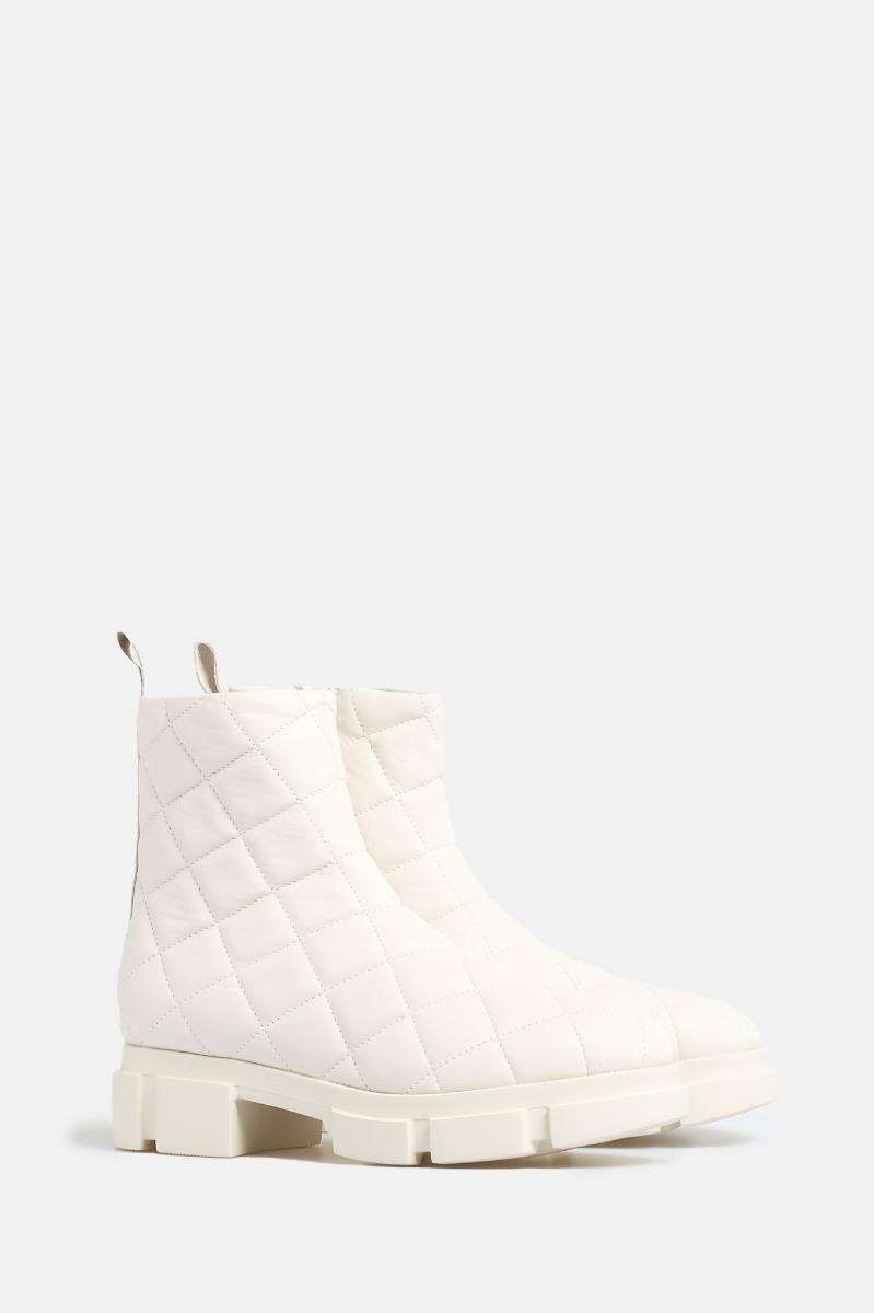 Boots trapuntato- Bianco