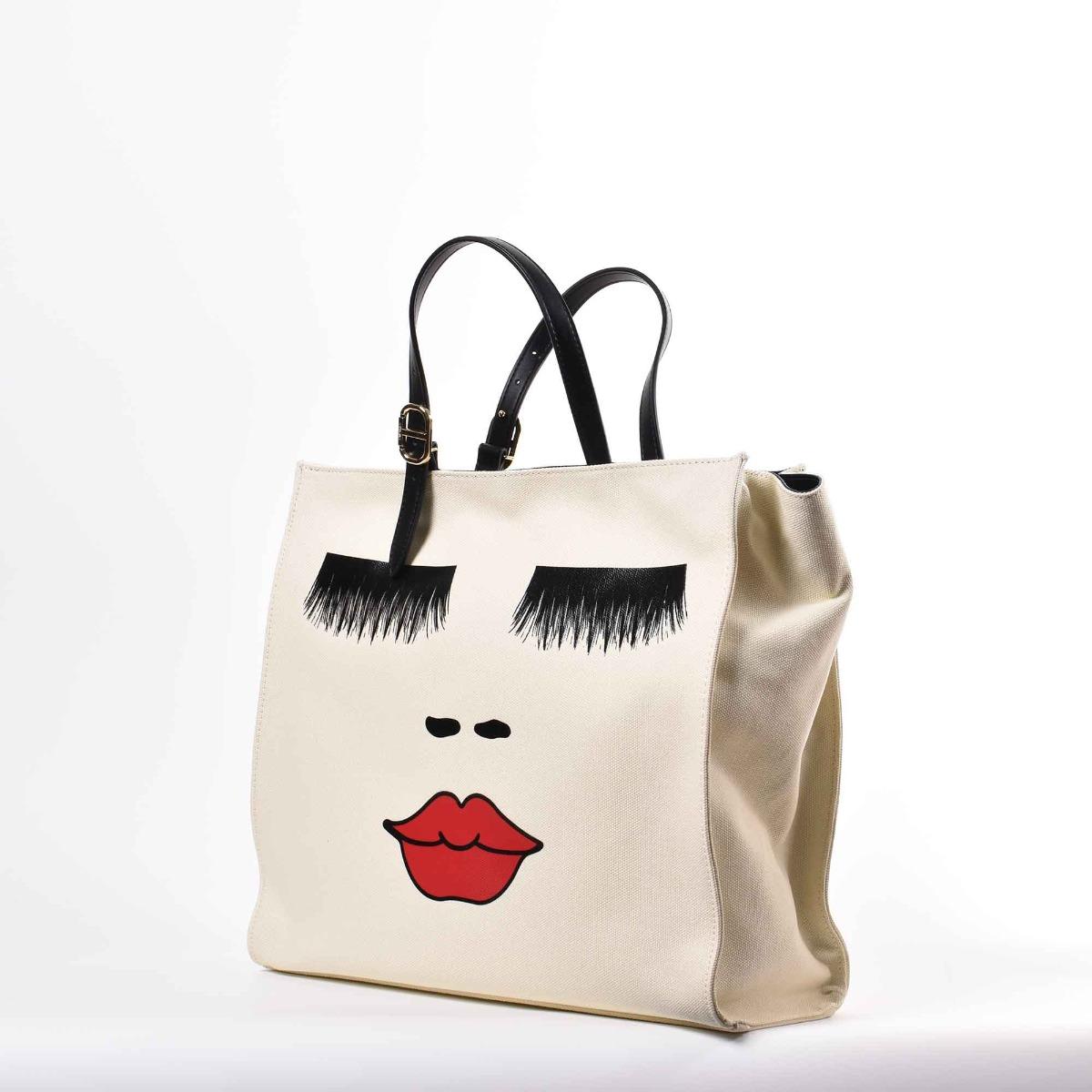 Shopper viso - Bianco