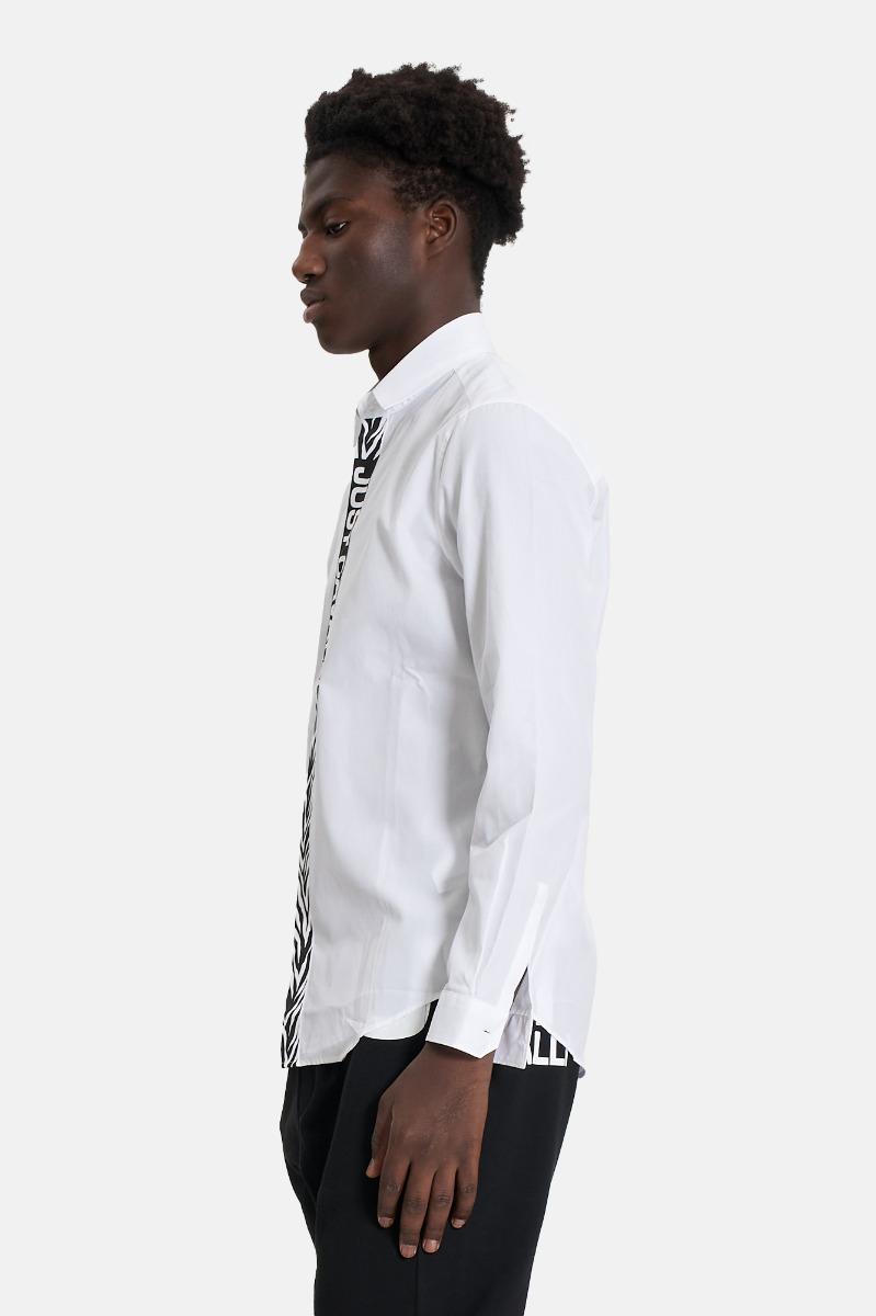 Camicia scritta centrale -Bianco
