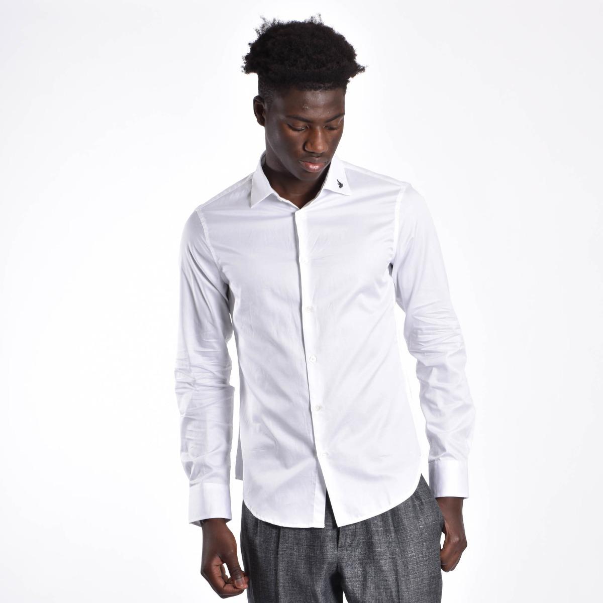 Camicia aquila colletto - Bianco