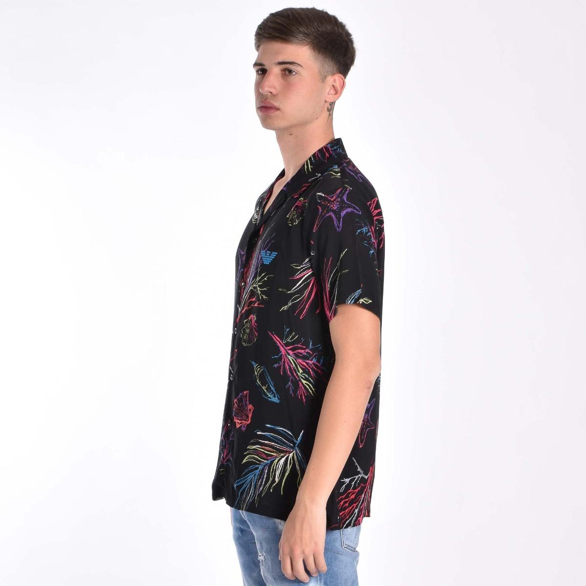 Camicia mc bowling - Nero