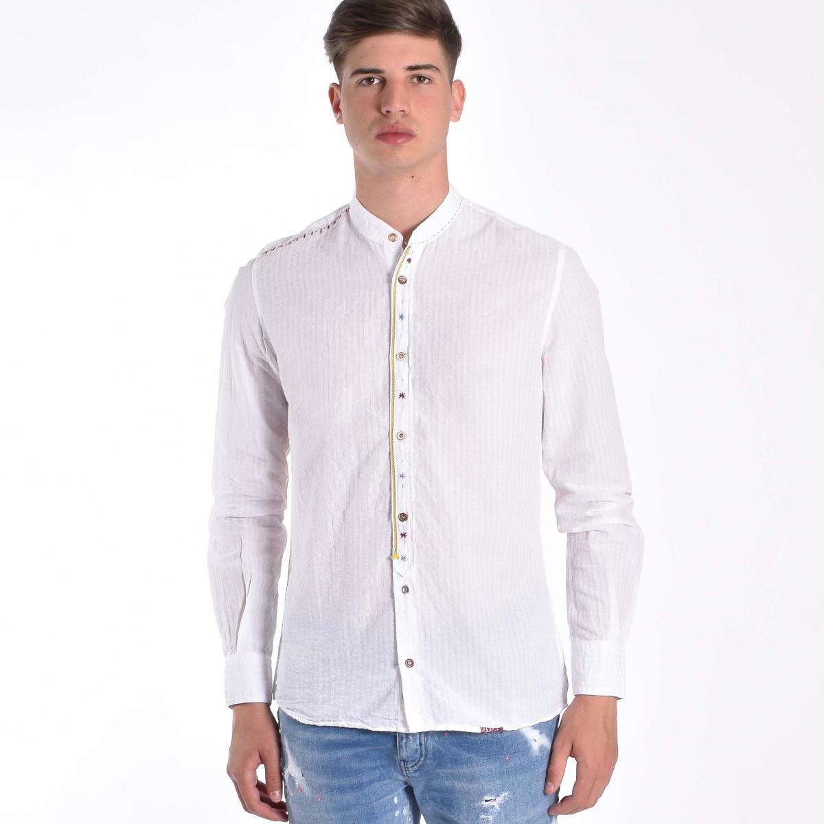 Camicia coreana- Bianco