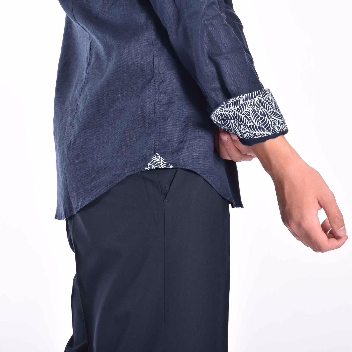 Camicia coreana - Blu