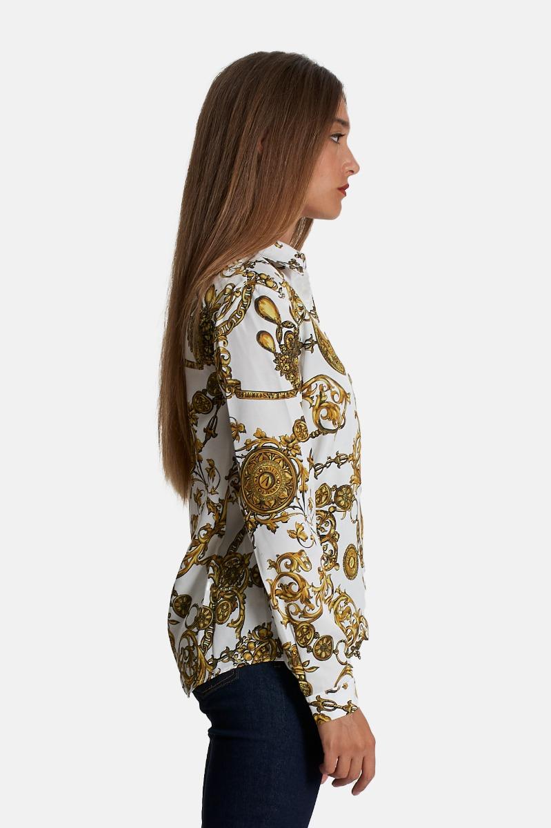 Camicia baroque bijoux -Bianco/Oro