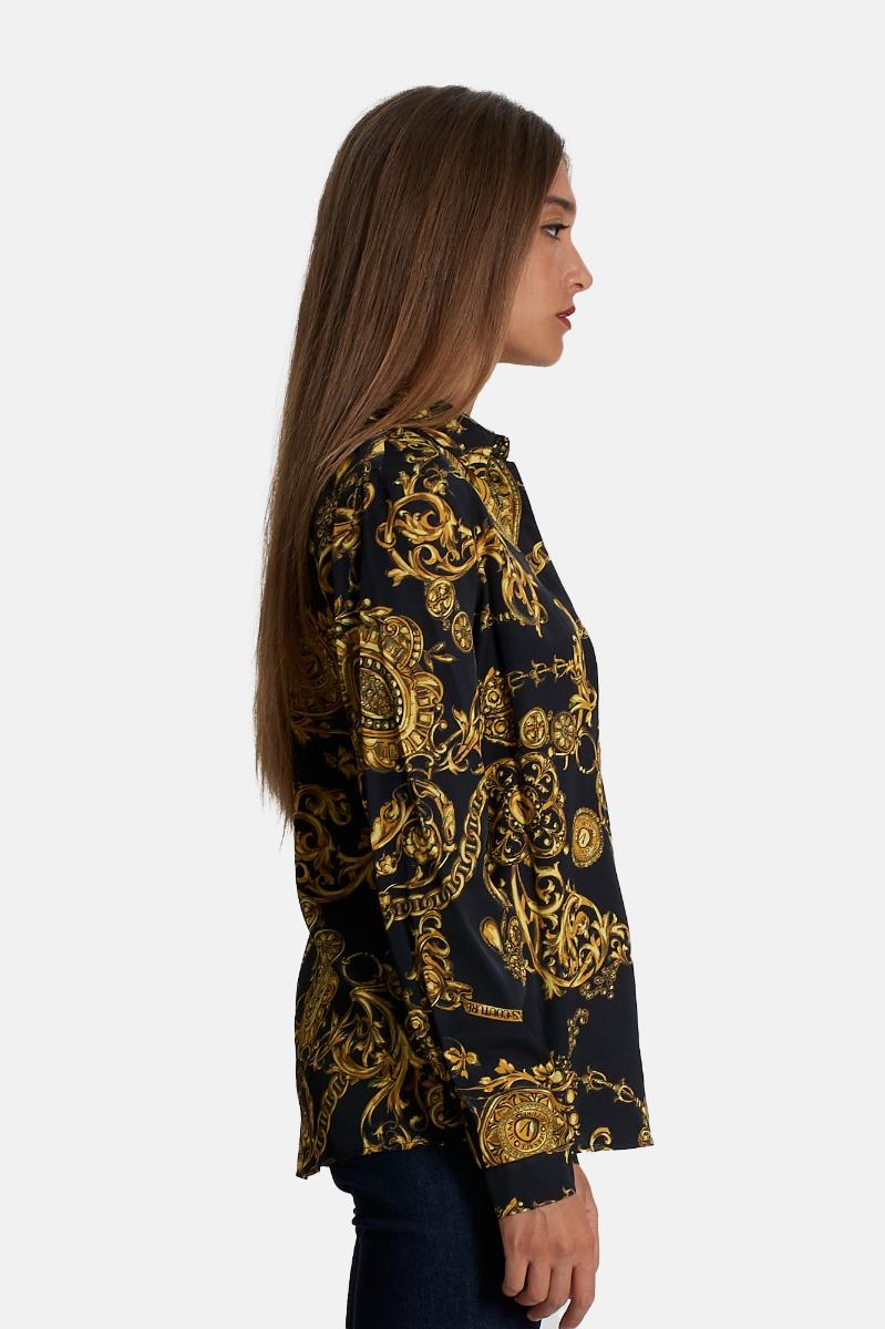 Camicia baroque bijoux -Nero/Oro