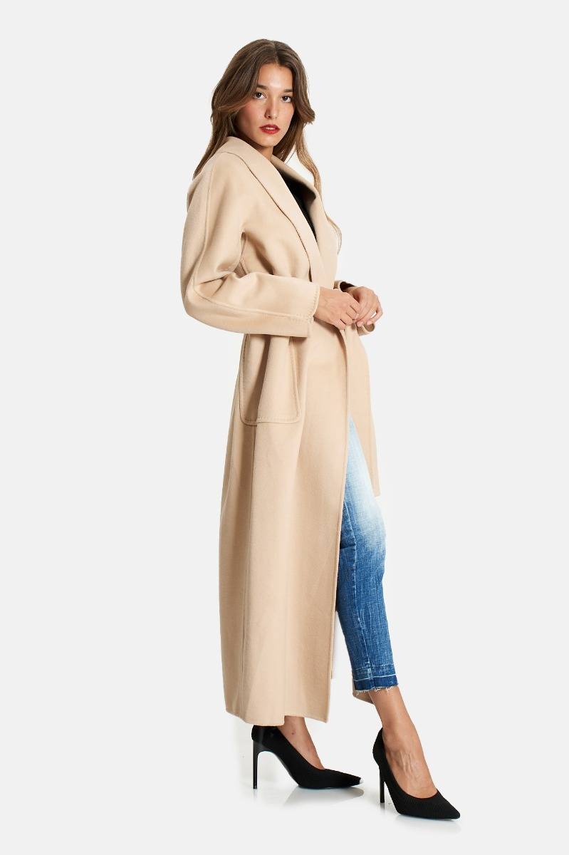 Cappotto lungo vestaglia -Beige