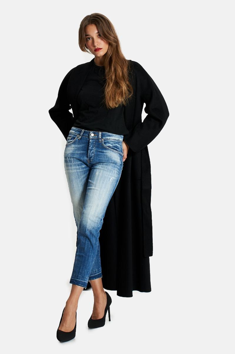 Cappotto lungo vestaglia -Nero
