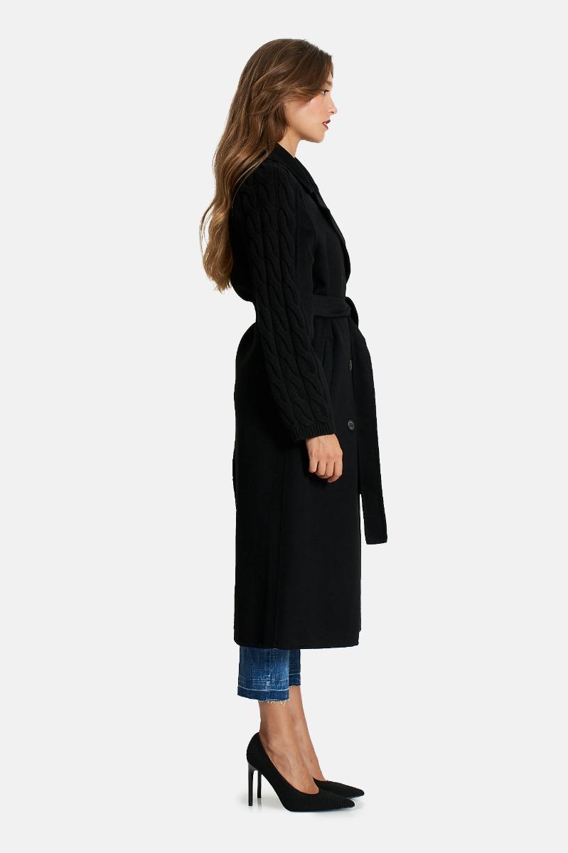Cappotto manica maglia -Nero