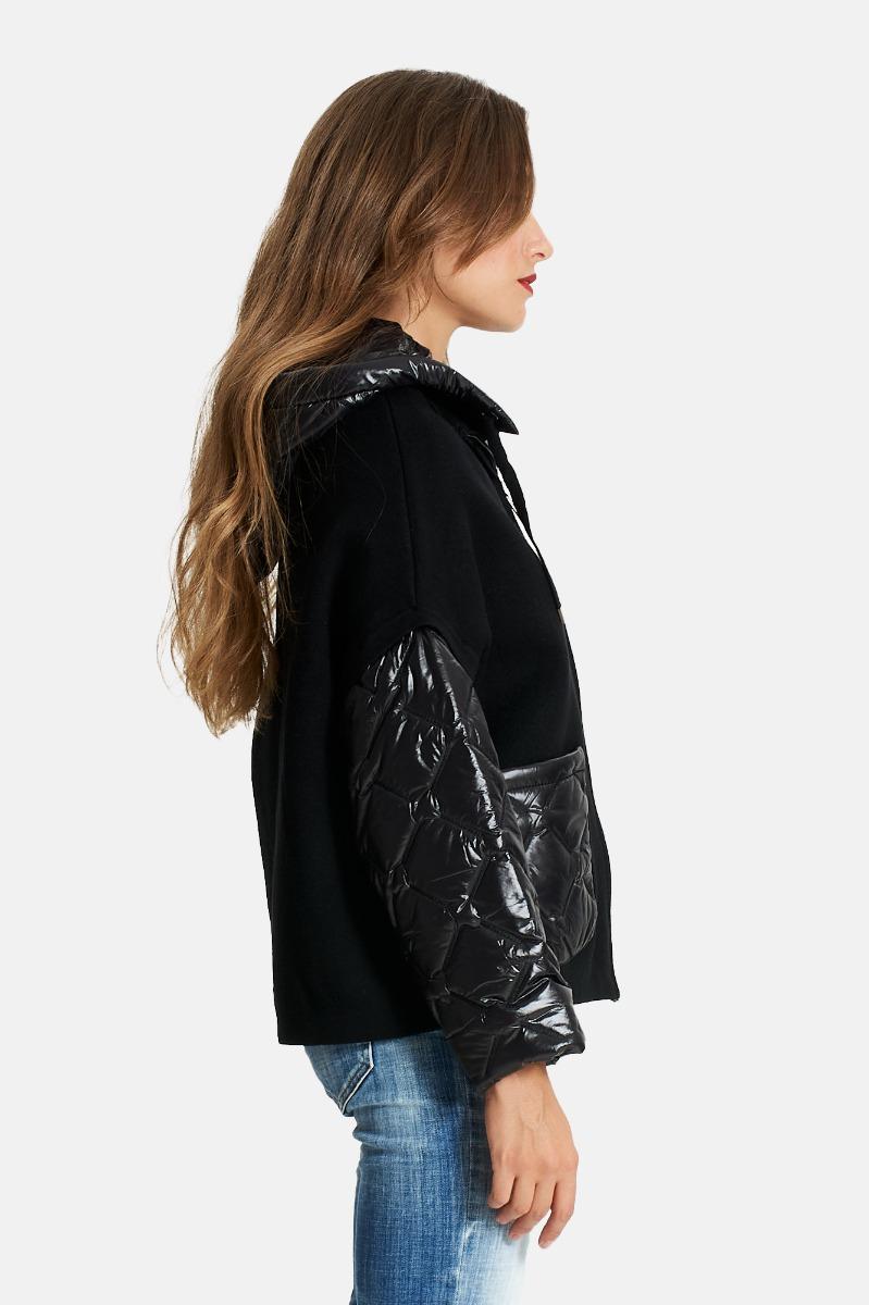 Cappotto tasca e trapuntato - Nero