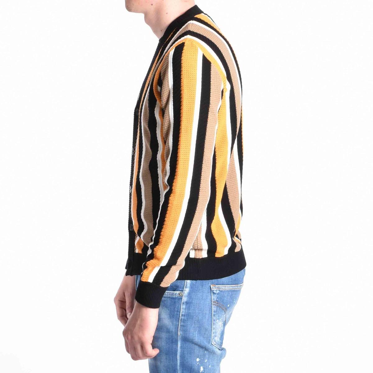 Cardigan riga verticale - Multicolore