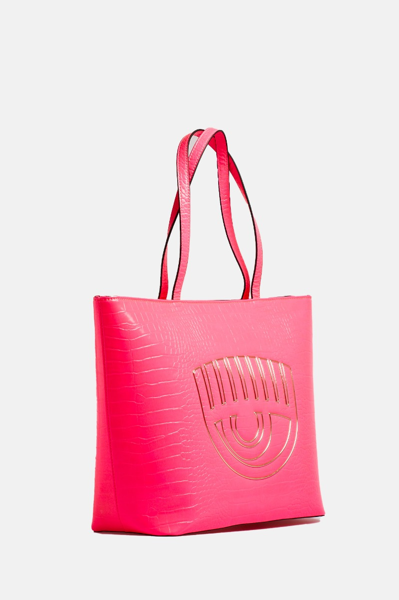 Shopper frame eye - Rosa fluo