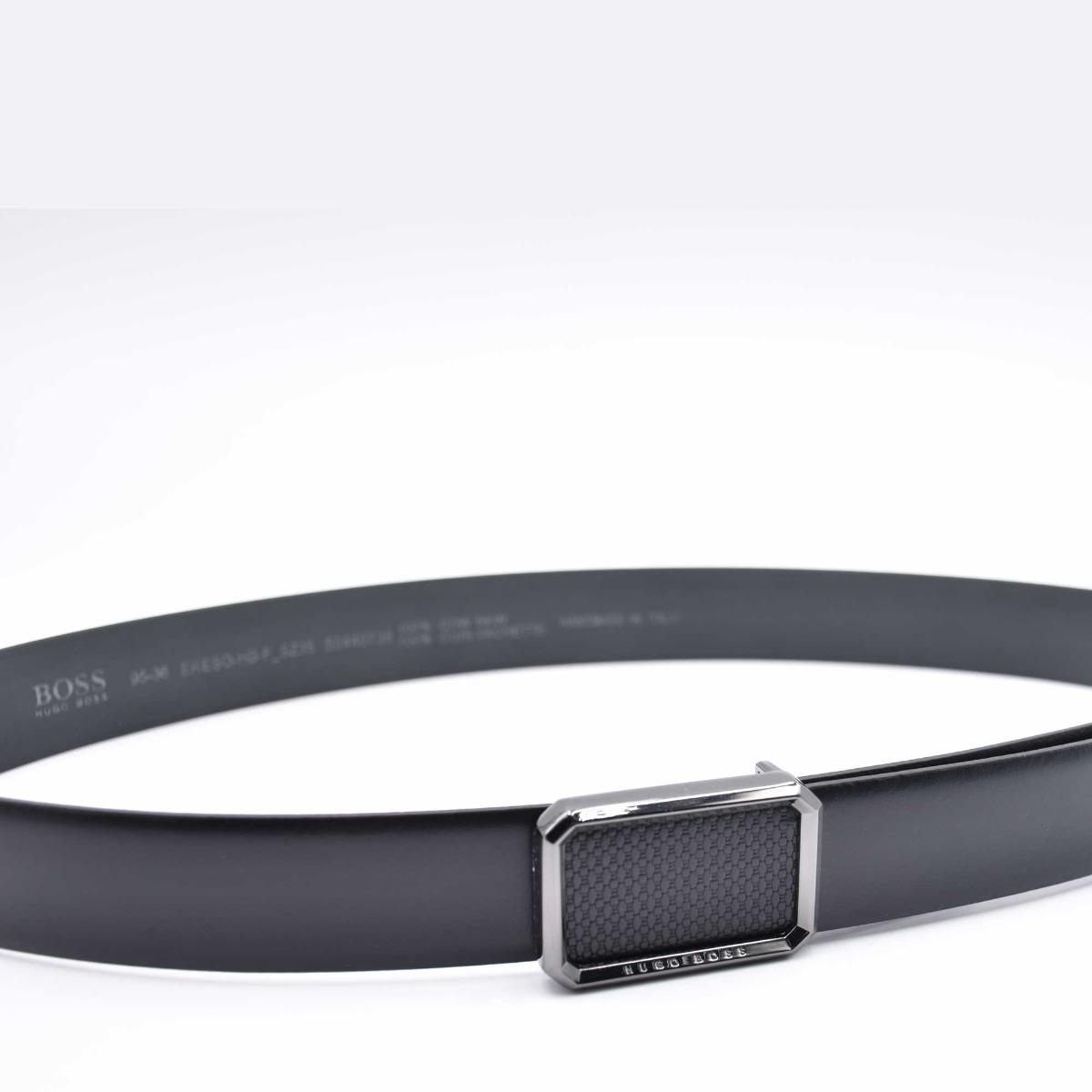 Cintura fibbia loghino- Nero