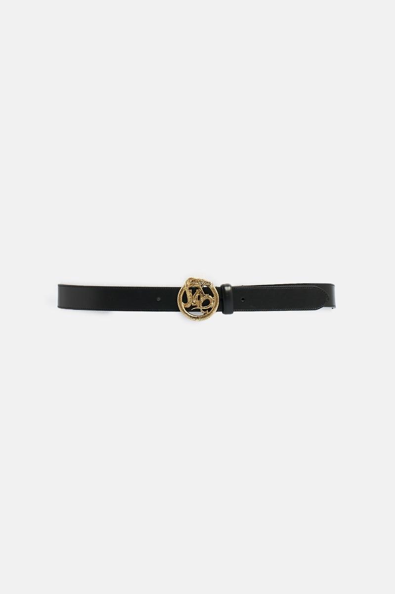 Cintura fibbia serpente - Nero