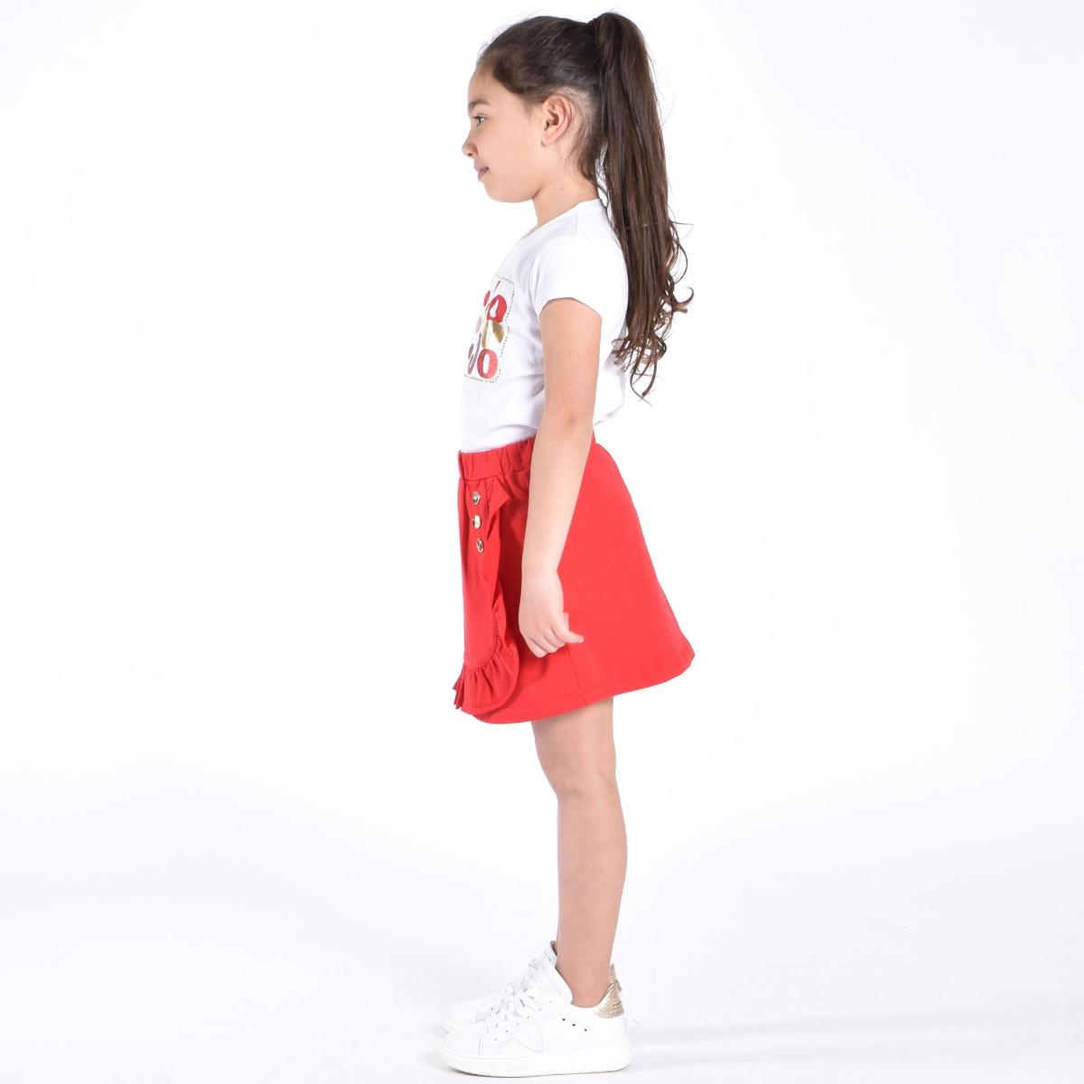 Completo logo glitter- Bianco / Rosso