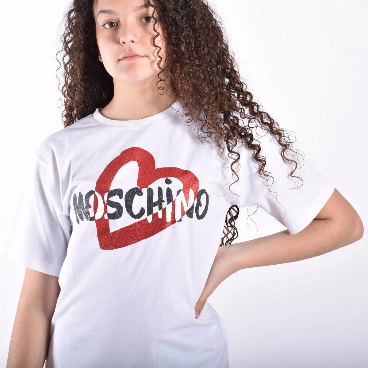 Completo T-shirt e leggins - Bianco / Nero