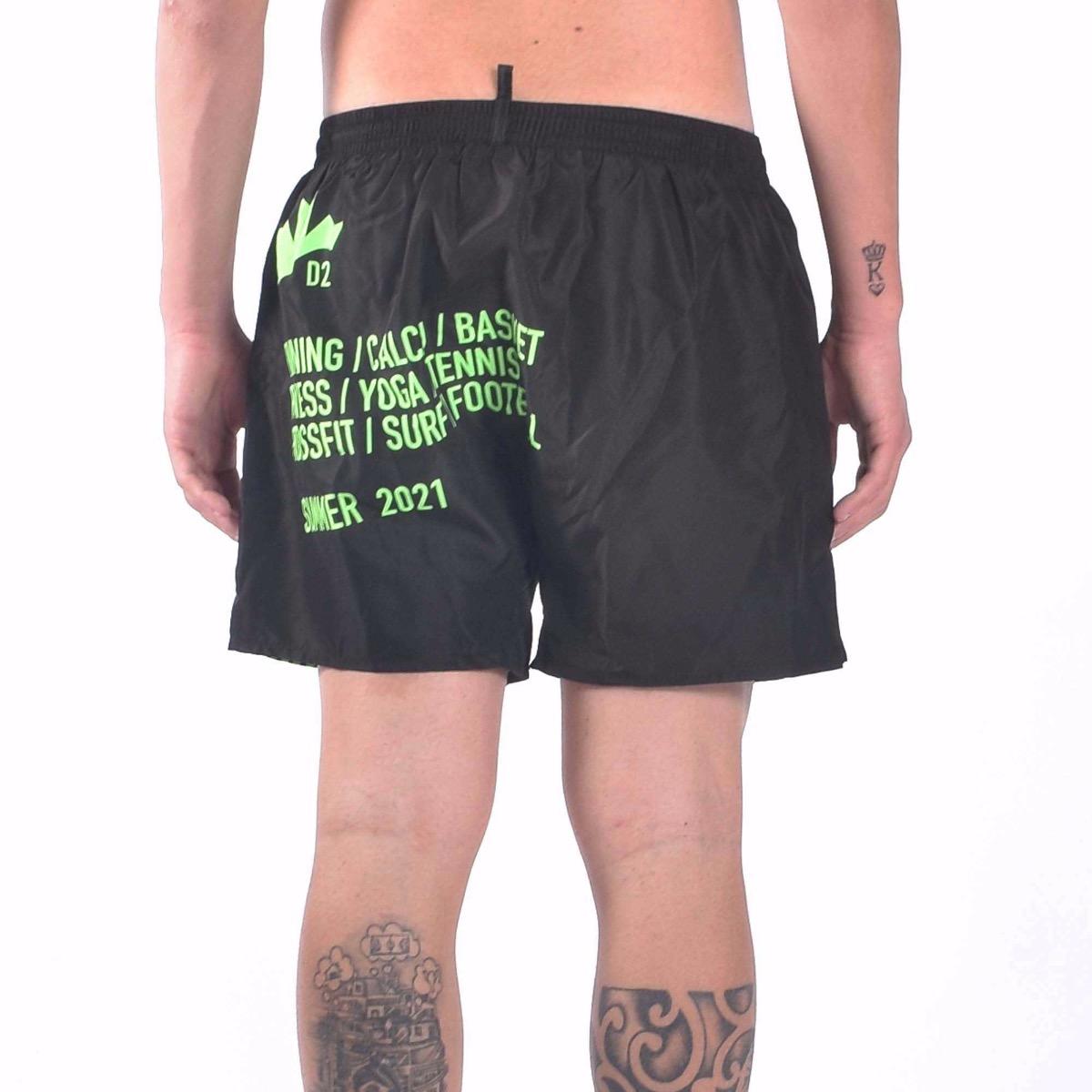 Boxer Dominate Sport Swim Trunks - Verde