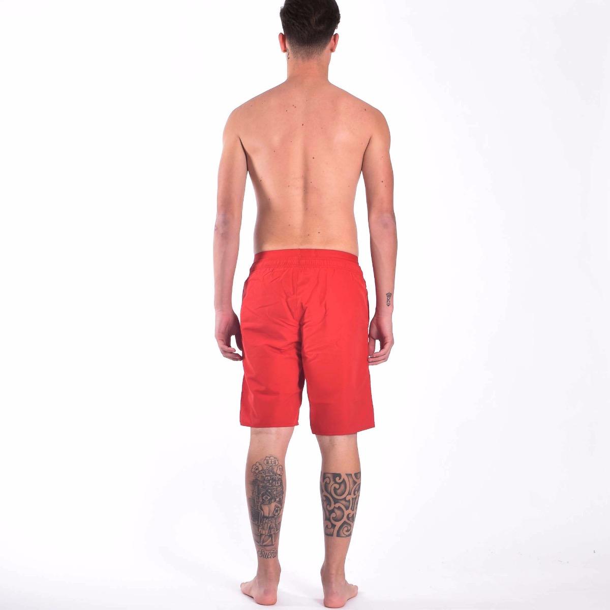 Costume bermuda elastico logato- Rosso