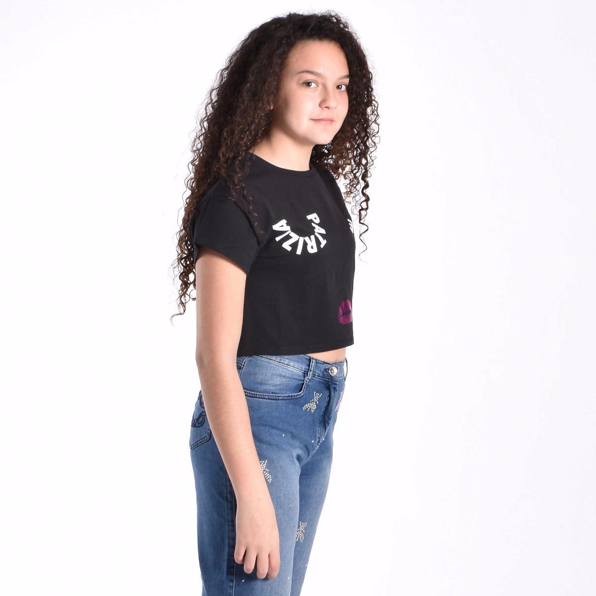 T-shirt face - Nero