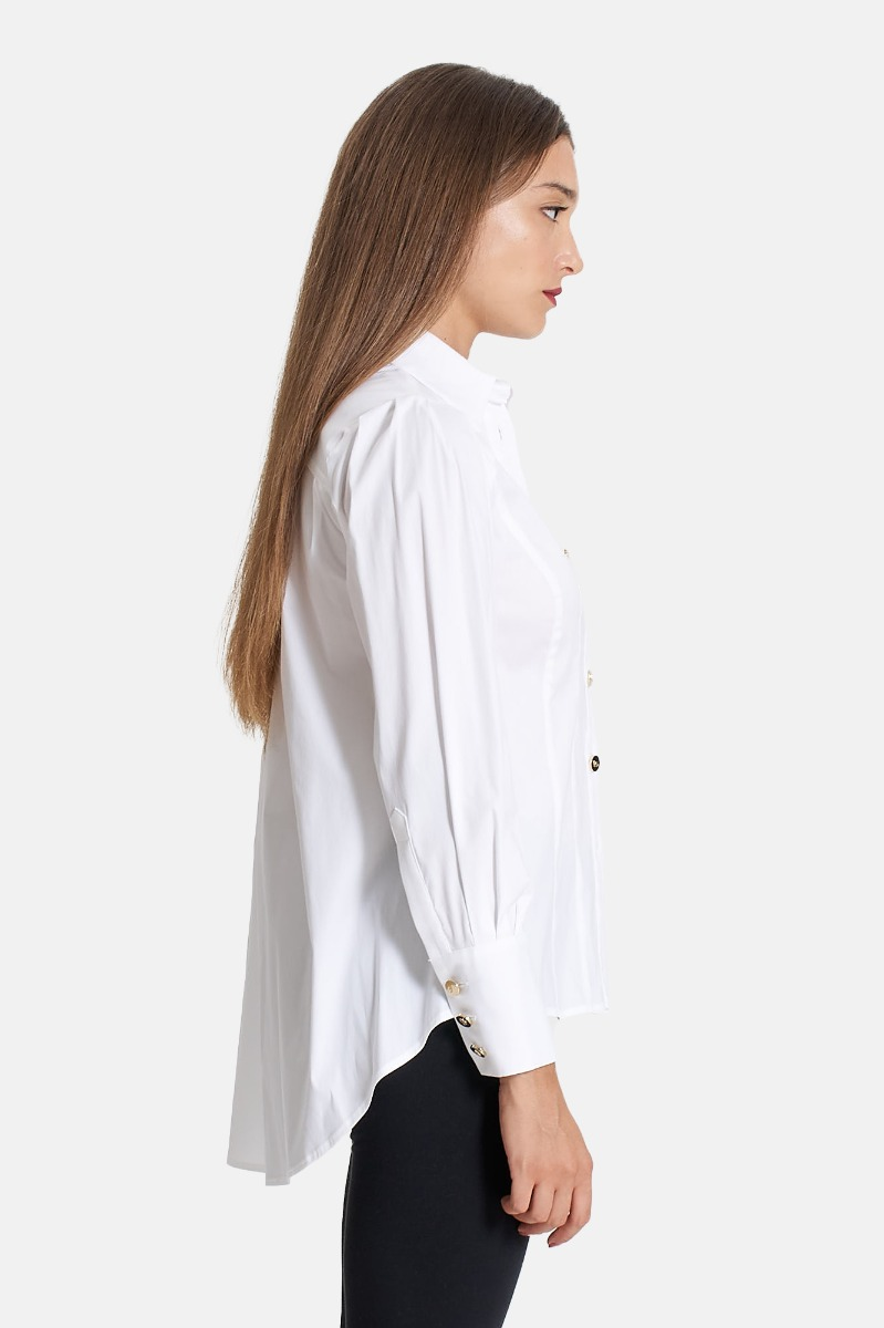 Camicia con patch Bianco