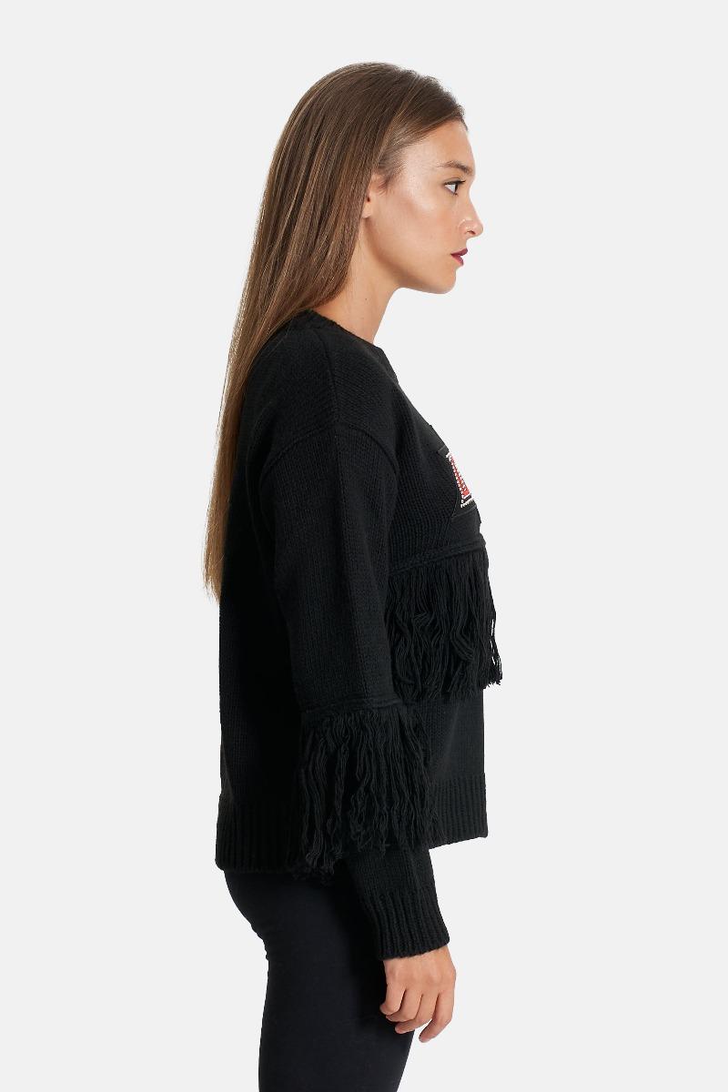 Pullover maglia -Nero