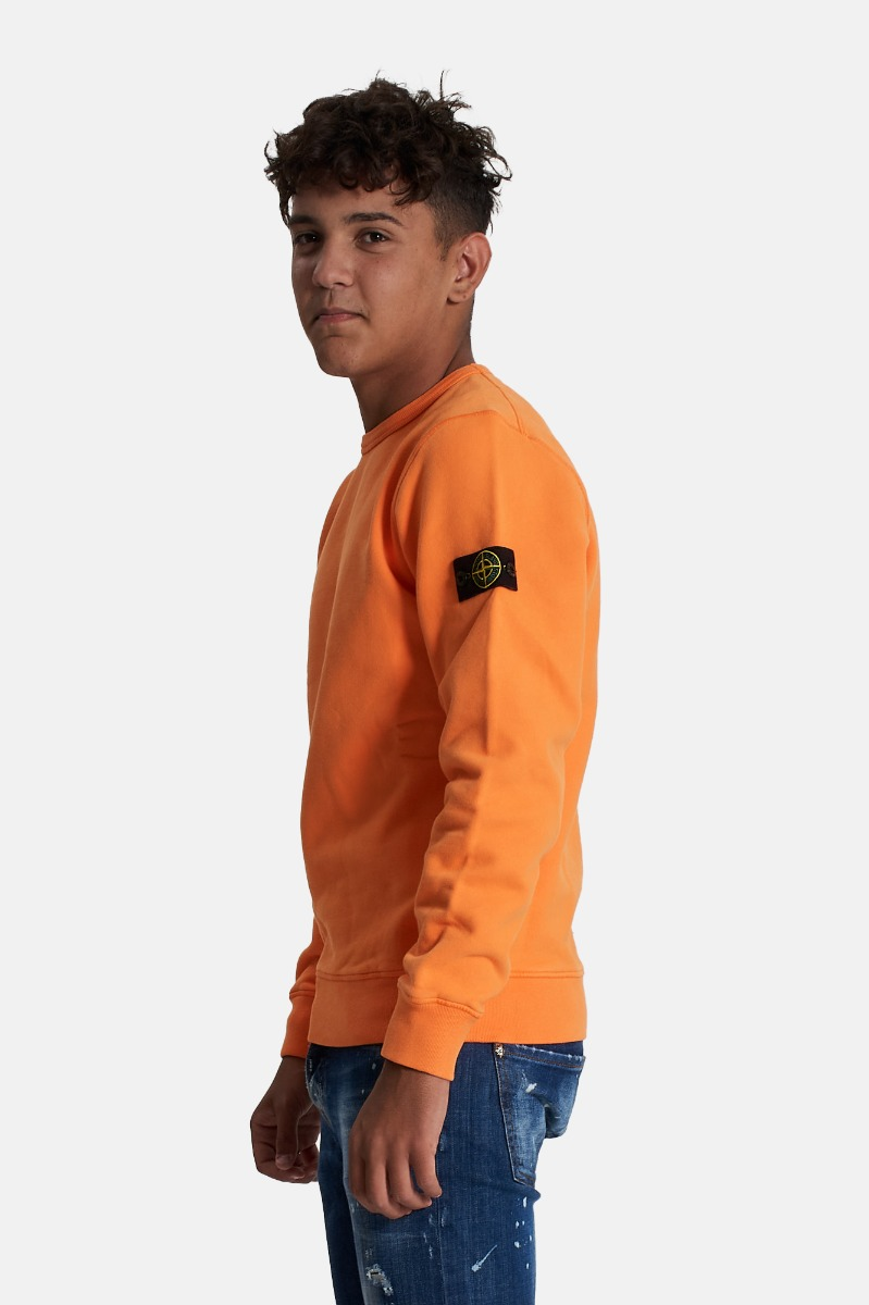 Felpa con logo- Arancione