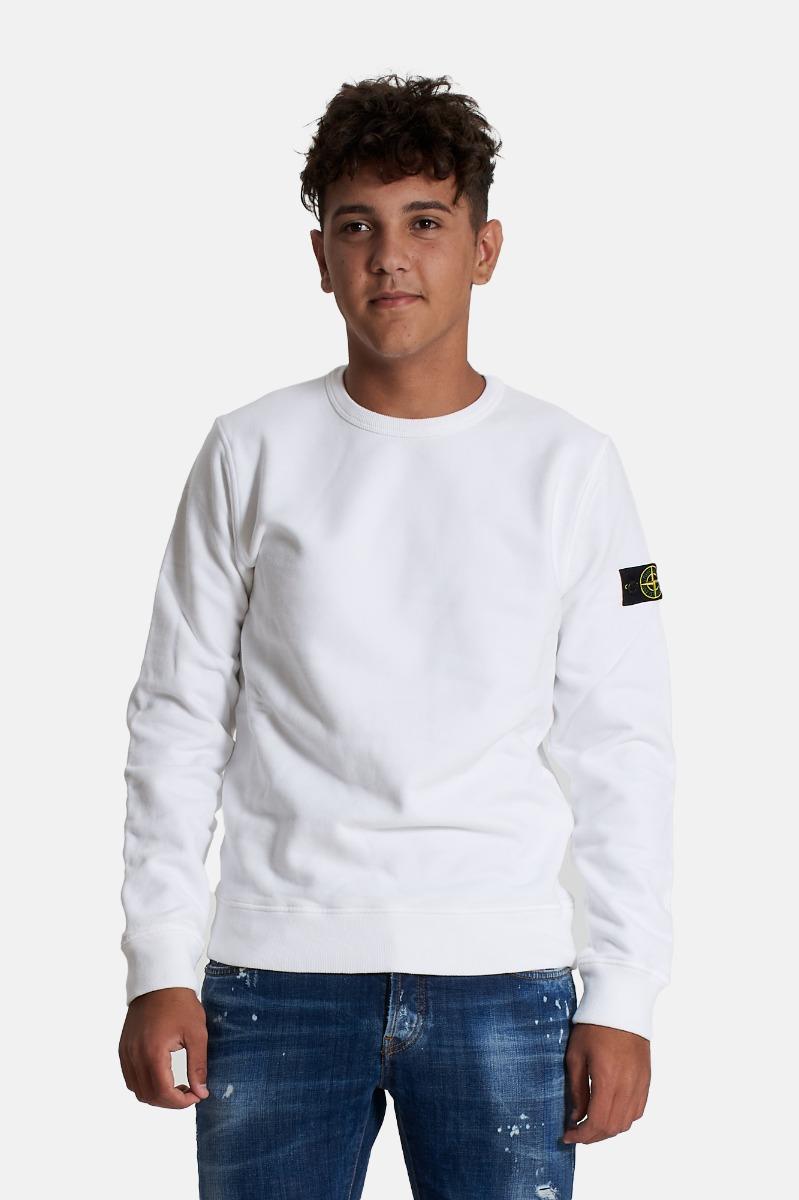 Felpa con logo- Bianco