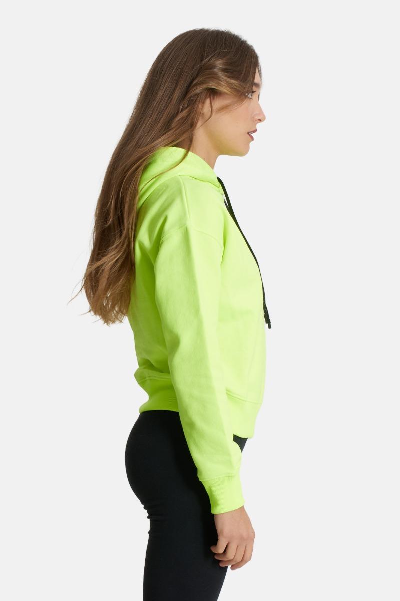 Felpa cappuccio -Green