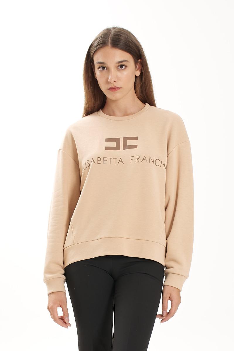 Felpa logo- Cappuccino/Mou