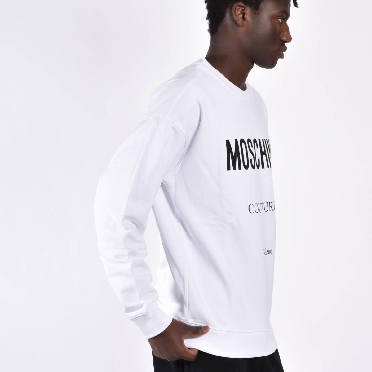 Felpa logo couture - Bianco