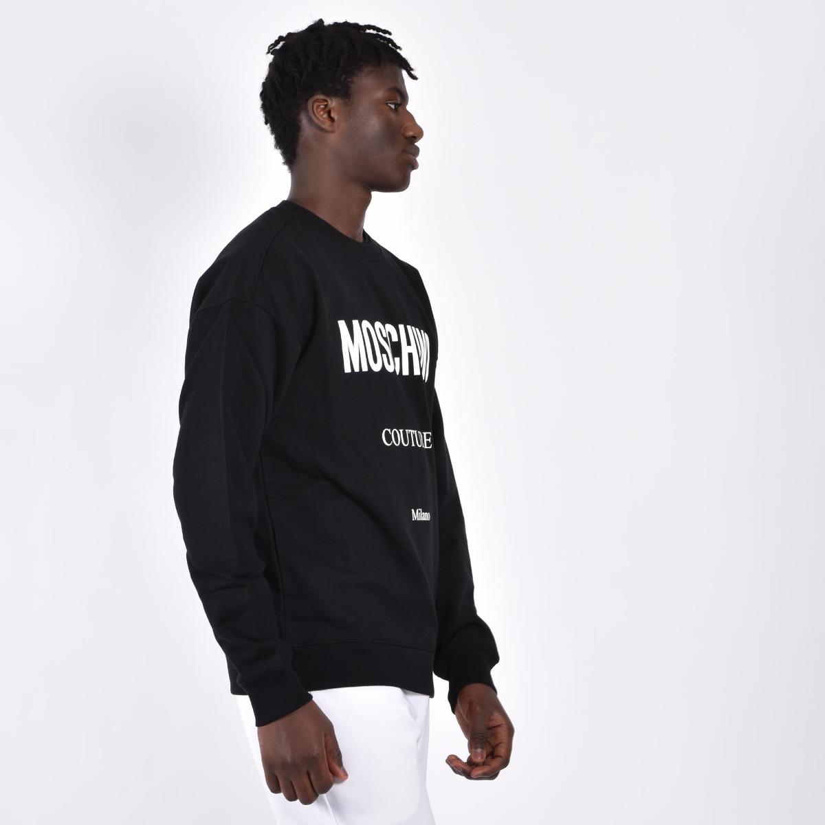 Felpa logo couture - Nero