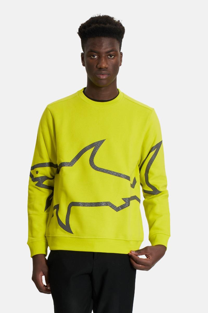 Felpa stampa squalo- Verde