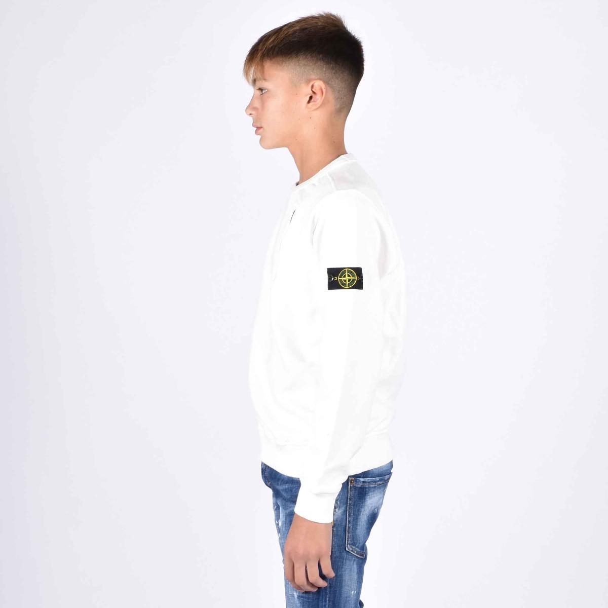 Felpa tasca finta - Bianco