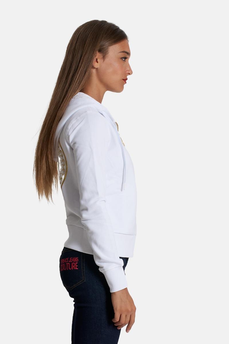 Felpa zip cappuccio - Bianco