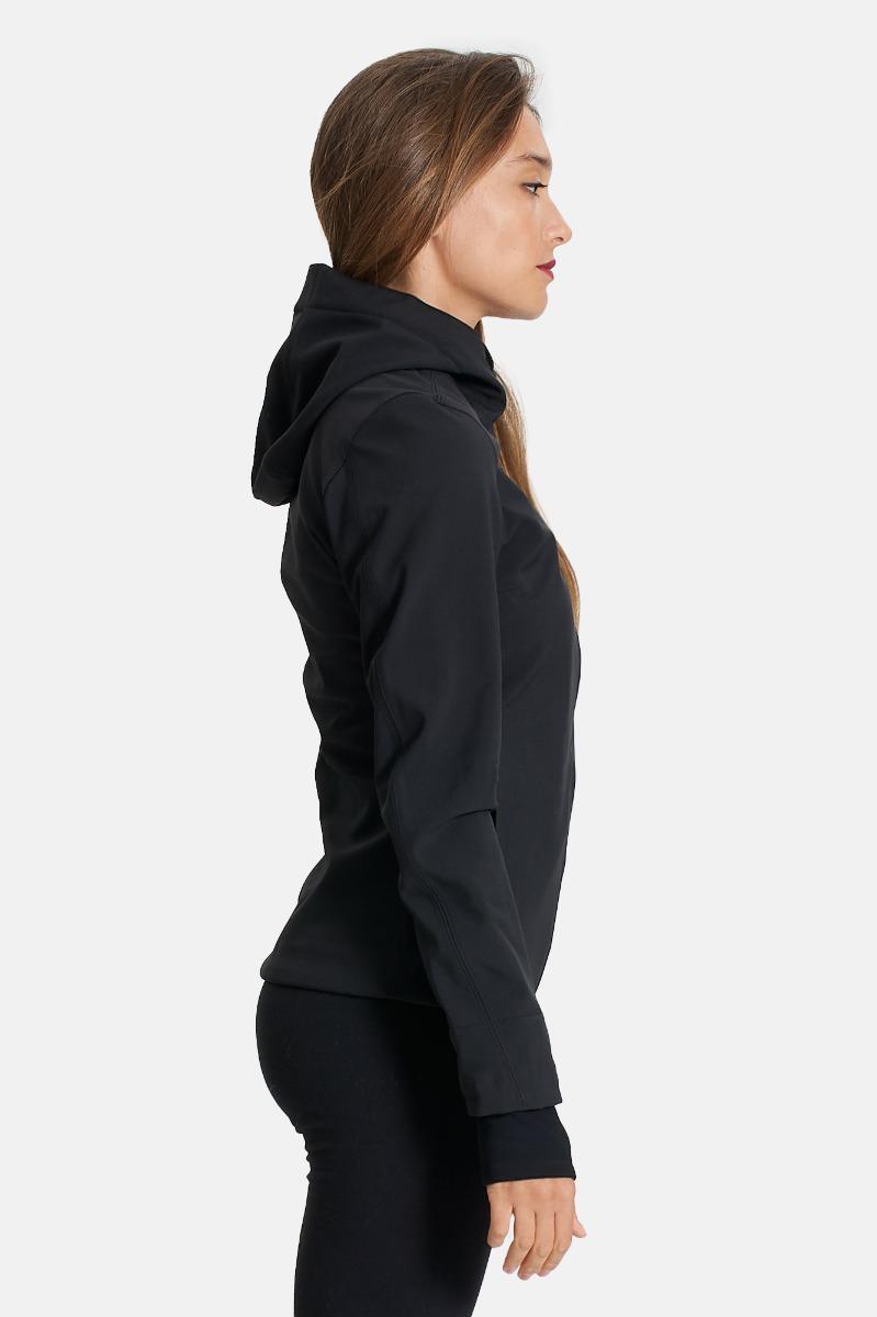 Lil bonded jackets short - Nero/blu