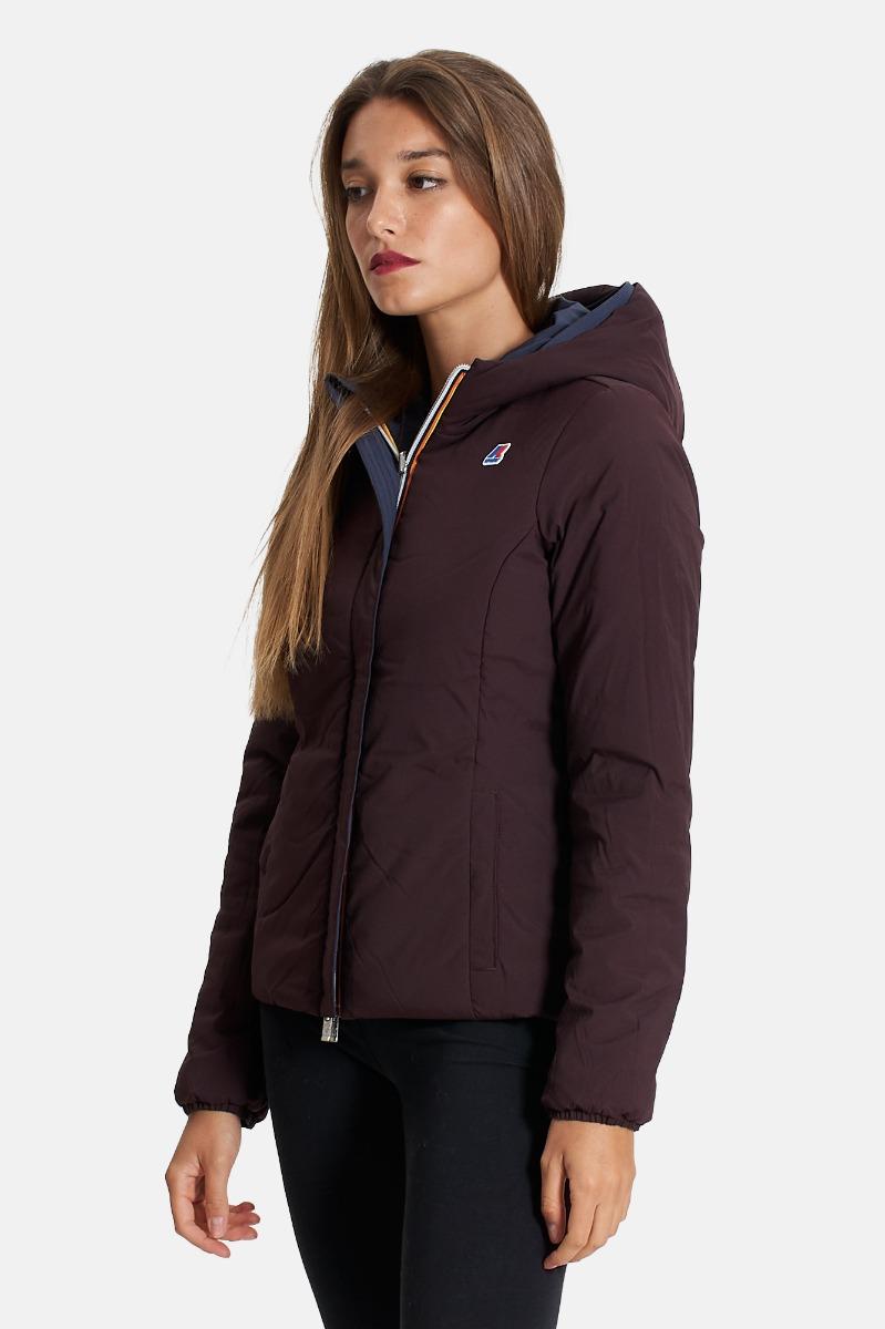 Lily warm double jacket short - Blu/marrone