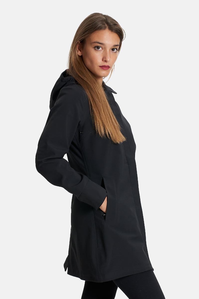 Mathy bonded jacket 3/4 length - Nero/blu