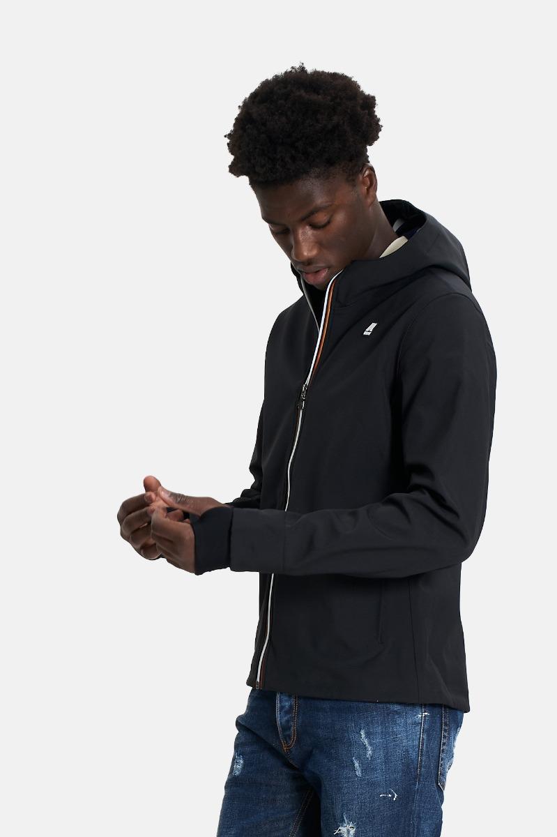 Jack bonded jacket short -Nero