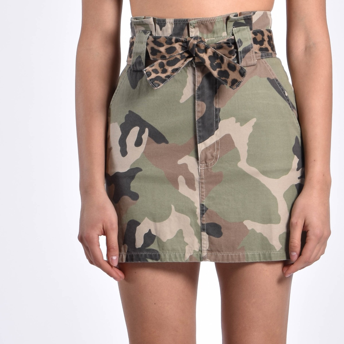 Minigonna camouflage - Verde militare