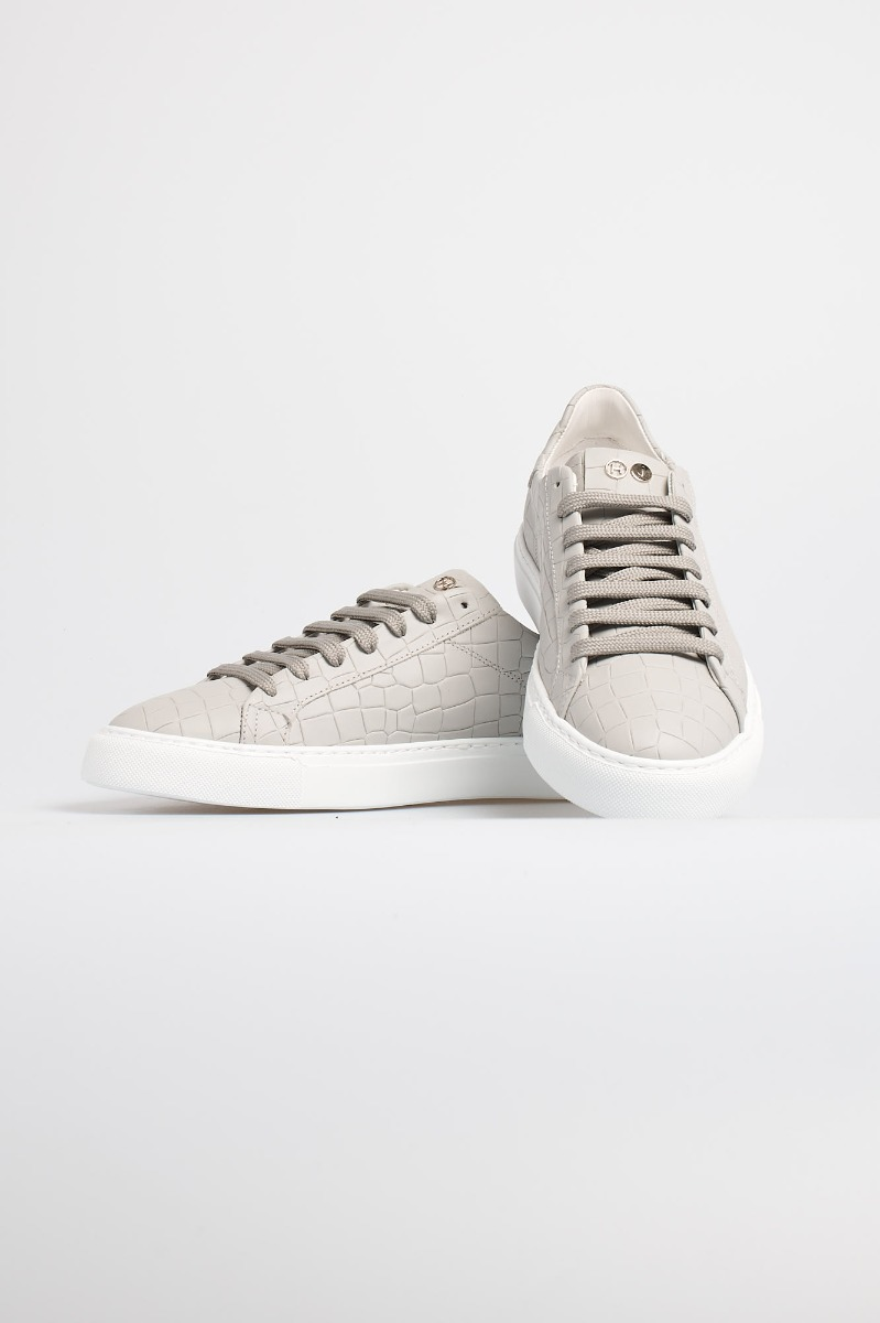 Sneaker essence printed croco - Grigio/bianco
