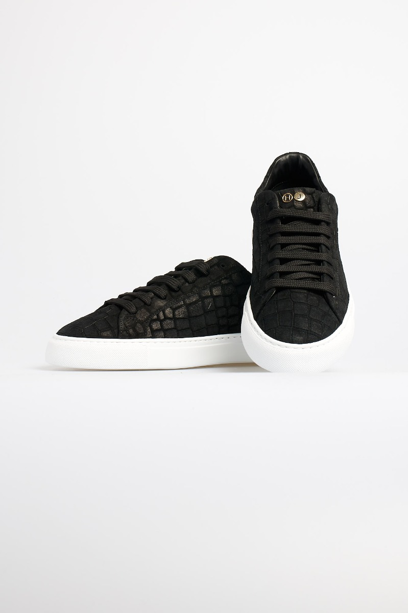 Sneaker essence printed croco - nero