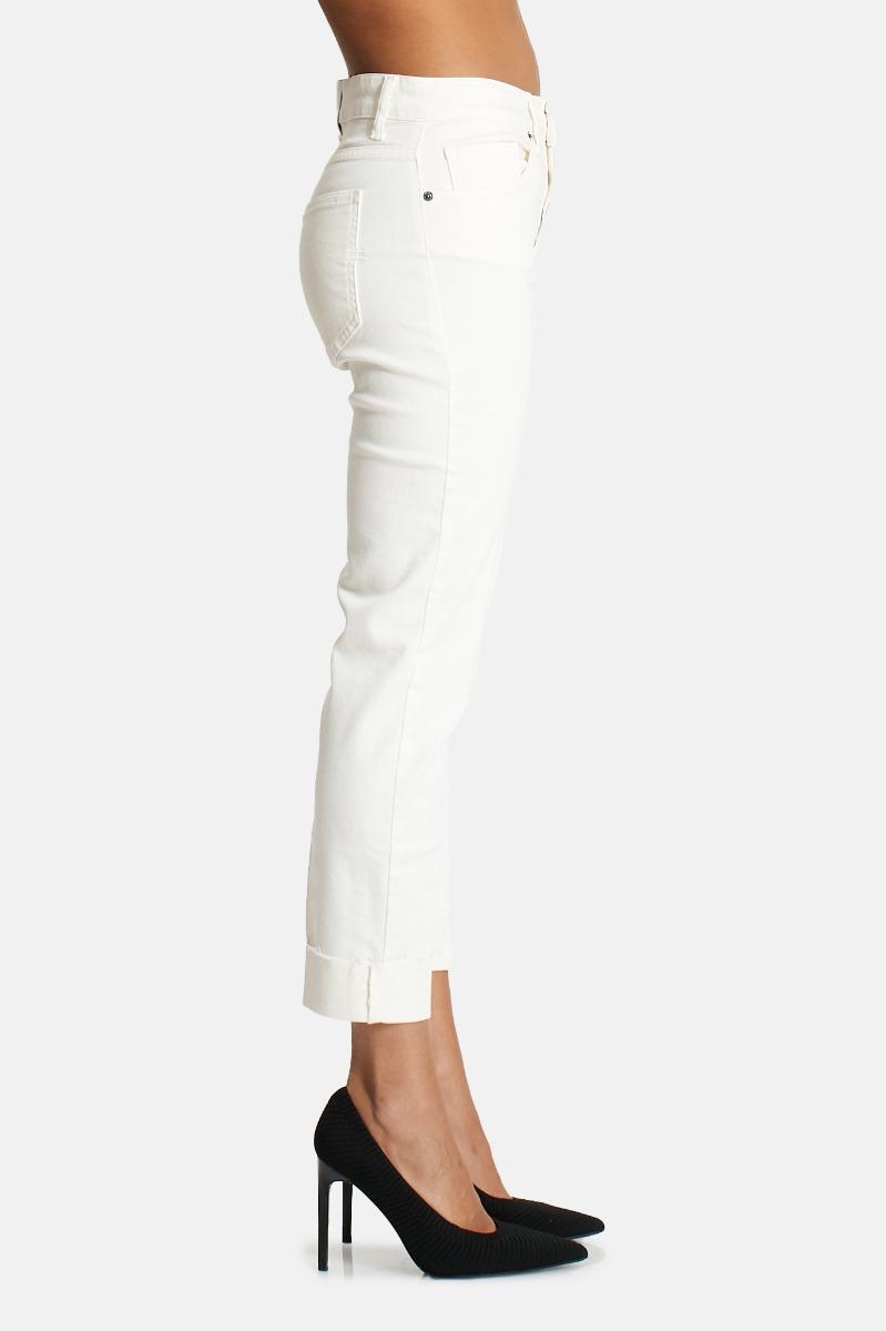 Jeans risvolto -Bianco