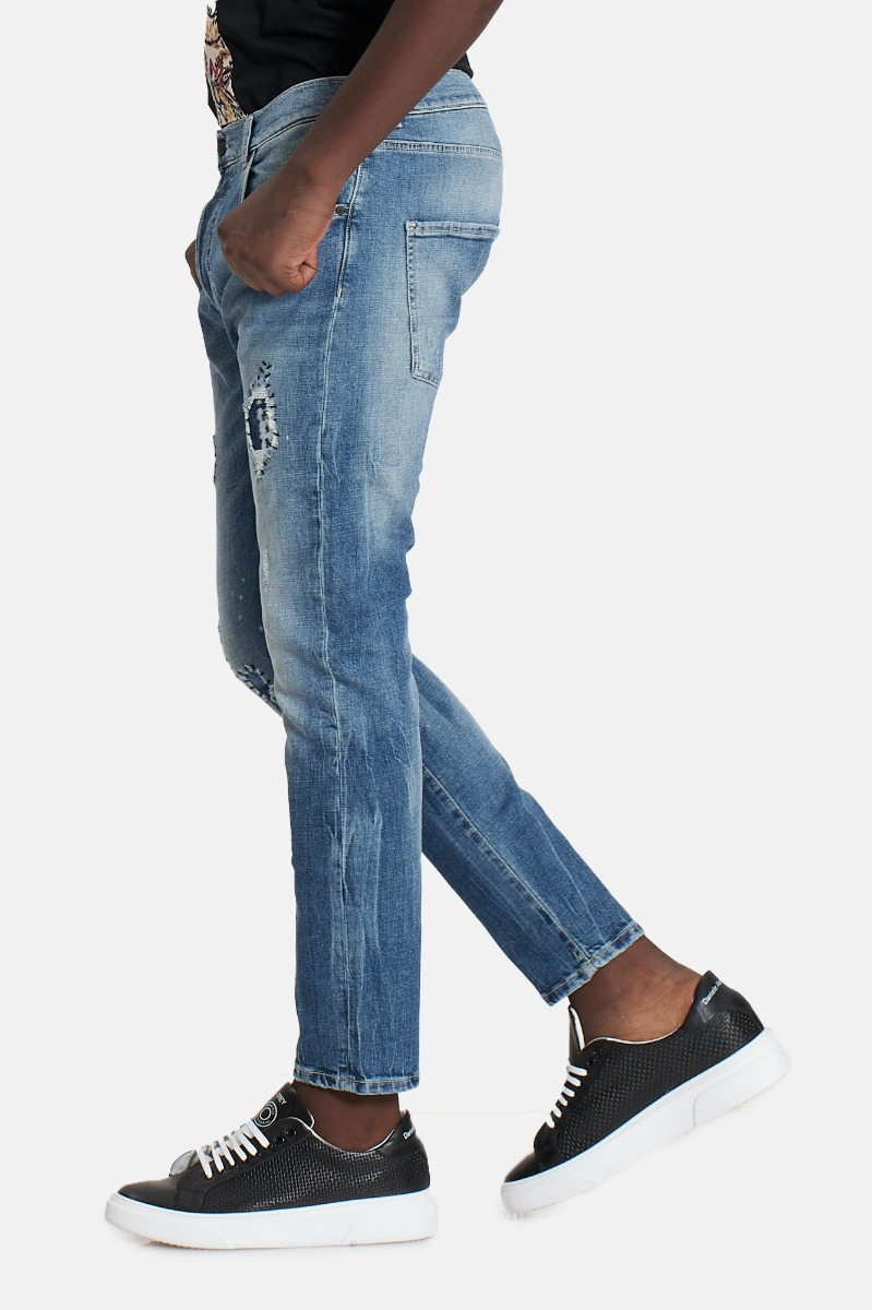Jeans strappi renato 5 tasche -Denim