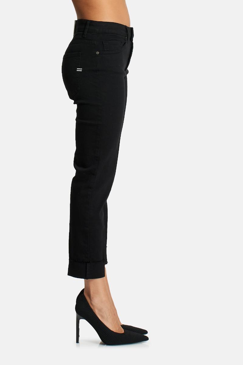 Jeans risvolto -Nero