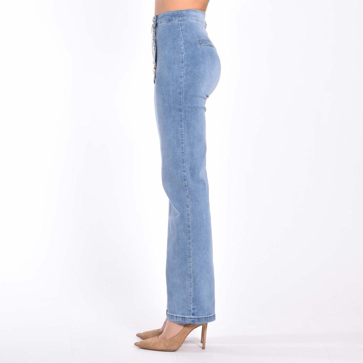 Jeans bottoni oro - Denim
