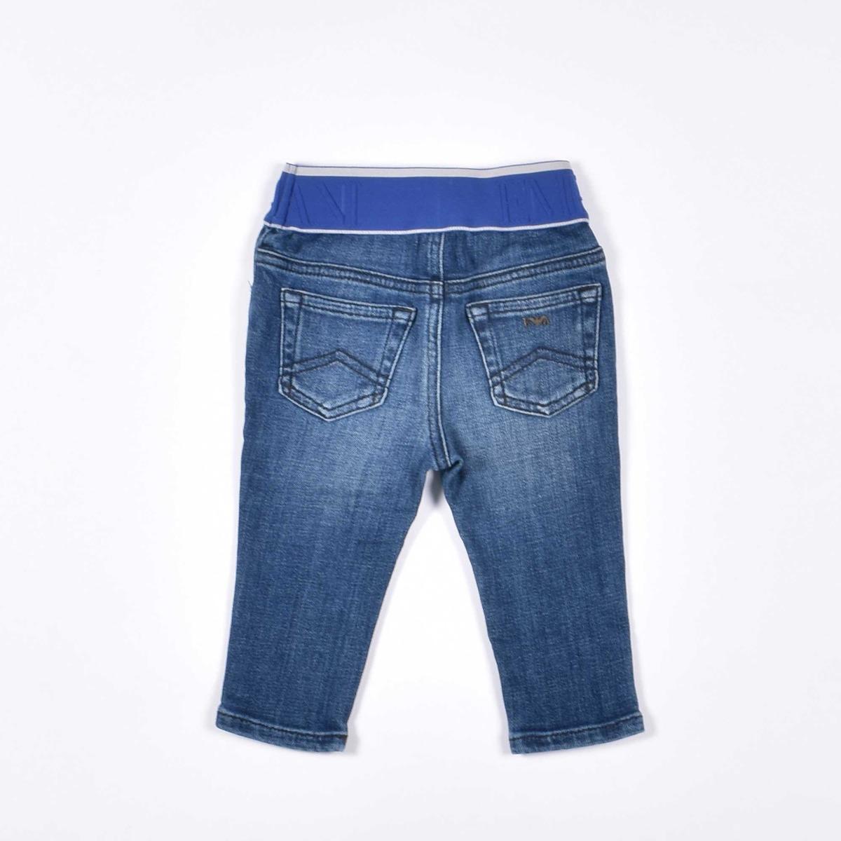 Jeans con fascia logata - Denim