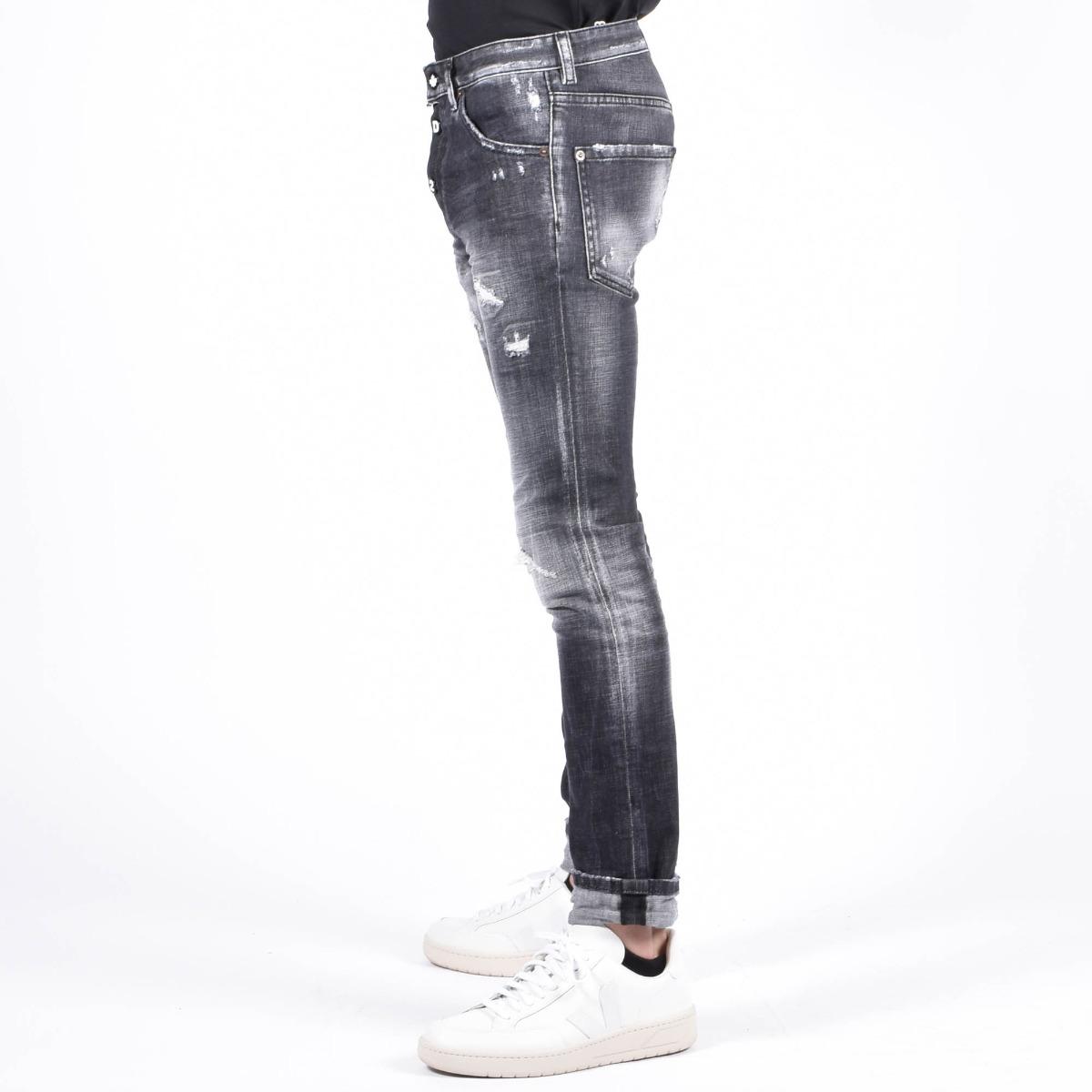 Jeans cool strappi- Denim nero