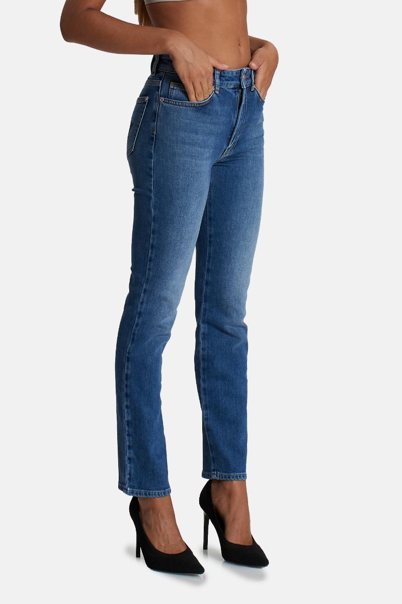 Jeans ricamo eye star- Indigo