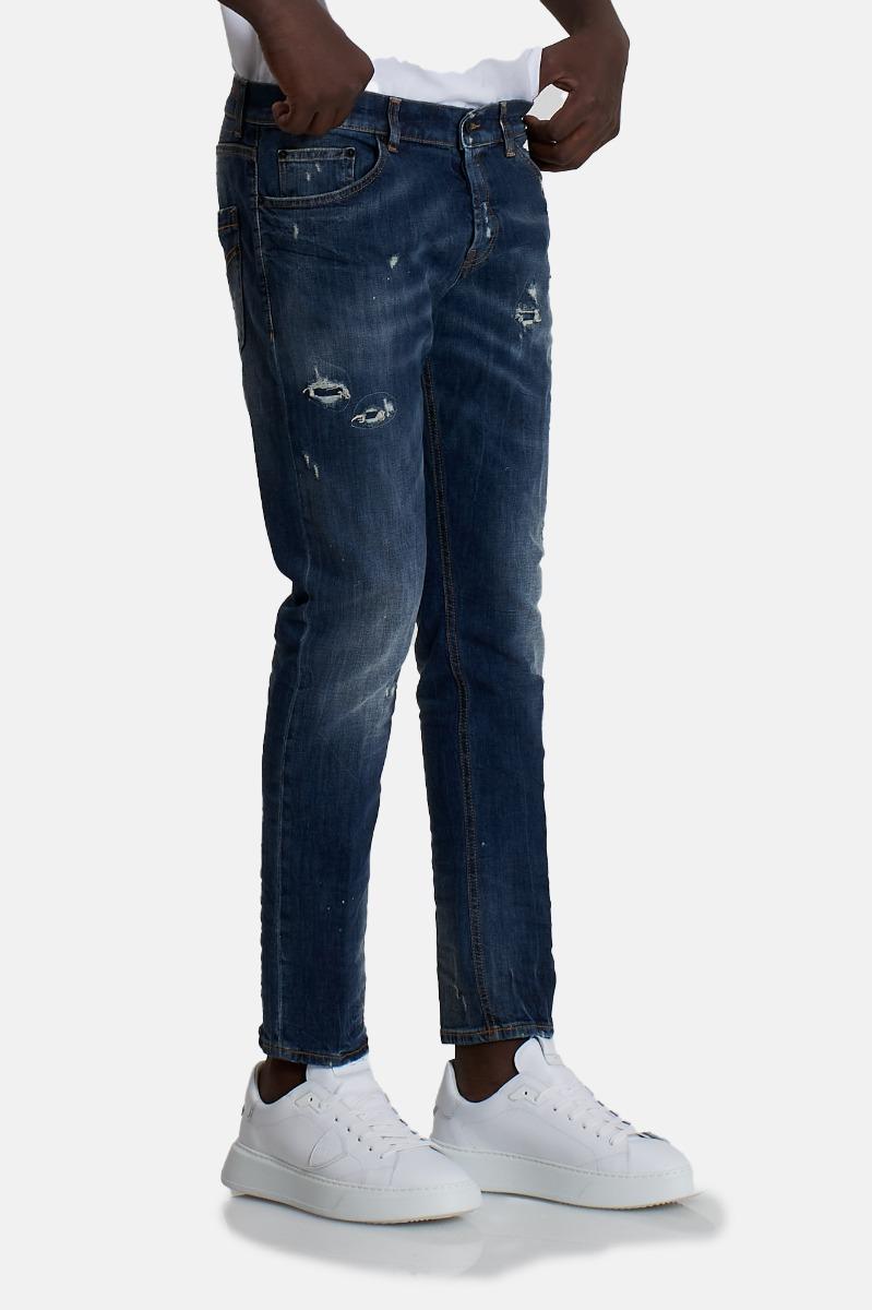 Jeans strappi mius - Denim medio